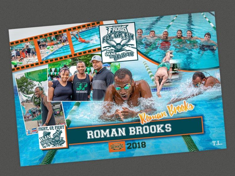 Swim Club Poster Design