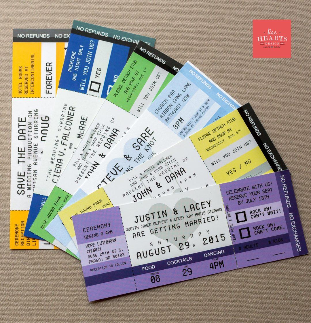 Concert Ticket Invitations