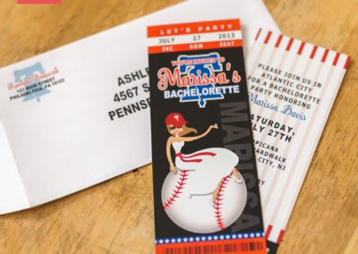 Baseball Ticket Bridal Shower Invitation