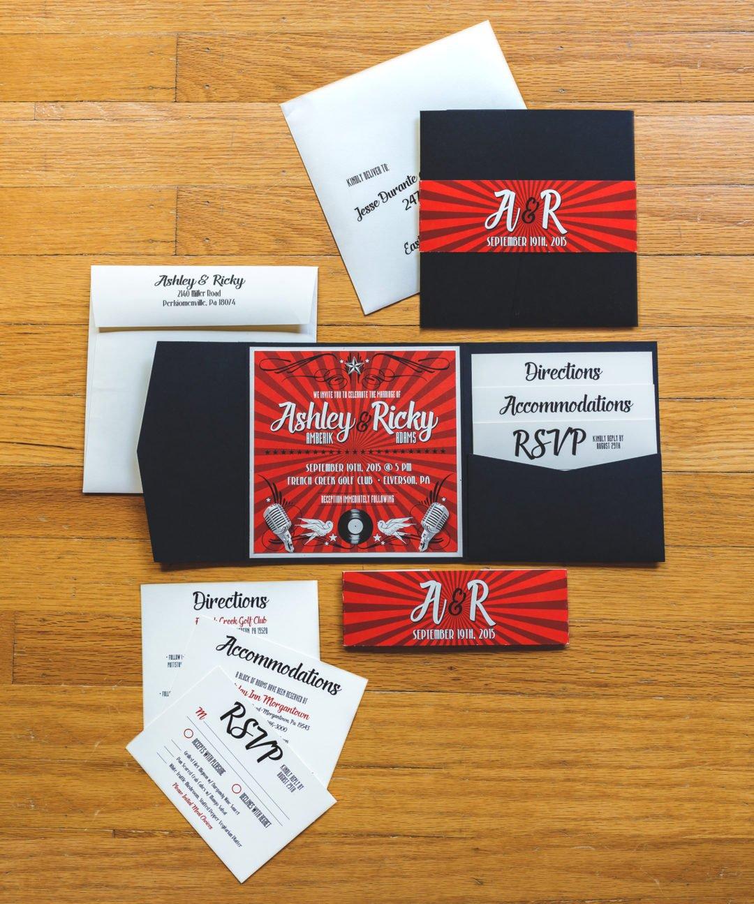 Rockabilly Wedding Invitation Www